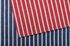 Textura de la tela de la raya Imagen de archivo libre de regalías