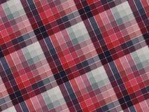 Textura de la tela de la tela escocesa Imágenes de archivo libres de regalías