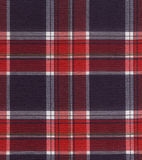 textura de la tela de la tela escocesa Imagen de archivo