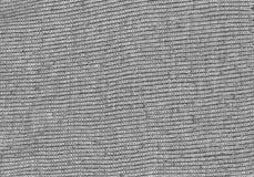 Textura de la tela de lana gris Fotos de archivo