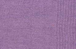 Textura de la tela de lana púrpura Foto de archivo