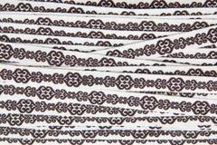 Textura de la tela del cordón de Brown Foto de archivo libre de regalías