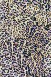 Textura de la tela del estampado leopardo rayada Fotografía de archivo libre de regalías