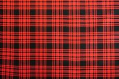 Textura de la tela escocesa Fotos de archivo libres de regalías