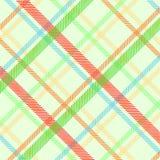 Textura de la tela escocesa de la primavera Fotografía de archivo libre de regalías
