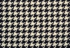 Textura de la tela de las lanas del pie del ganso del tweed imagenes de archivo