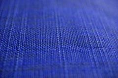 Textura de la tela de los azules marinos Fondo azul marino del paño Ciérrese encima de vista de la textura y del fondo azul marin Fotografía de archivo libre de regalías