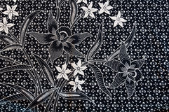 Textura de la tela tailandesa tradicional general Foto de archivo libre de regalías