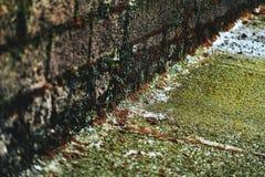 Textura de la tierra y de la pared en un embarcadero foto de archivo