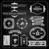 Textura de la tiza de los elementos del diseño Imagen de archivo libre de regalías