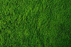 Textura de la toalla de Terry verde fotos de archivo libres de regalías