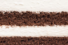 Textura de la torta de la crema batida y de chocolate Imagen de archivo libre de regalías