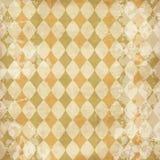 Textura de la vendimia con los Rhombus Foto de archivo