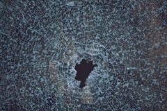 Textura de la ventana de cristal rota Imagen de archivo