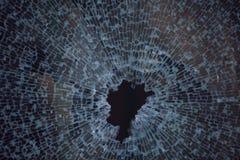 Textura de la ventana de cristal rota Imagen de archivo libre de regalías