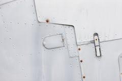 Textura de la vieja carrocería del combatiente Fotos de archivo