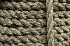 Textura de la vieja cuerda marina Imágenes de archivo libres de regalías