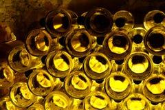 Textura de las botellas de vino Foto de archivo libre de regalías
