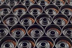 Textura de las cajas de la película del milímetro Fotografía de archivo libre de regalías