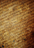 Textura de las cartas latinas Fotografía de archivo