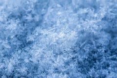 Textura de las escamas de la nieve Fotografía de archivo