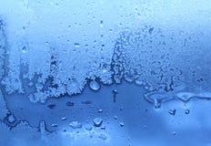 Textura de las gotas del hielo y del agua Imagen de archivo libre de regalías