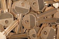 Textura de las llaves de oro Foto de archivo