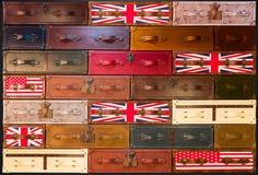 textura de las maletas del Inglés-estilo imágenes de archivo libres de regalías