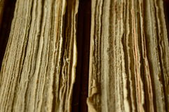 Textura de las páginas, dos libros viejos, fondo del vintage Foto de archivo libre de regalías