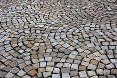 Textura de las piedras de pavimentación Foto de archivo