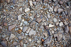 Textura de las piedras del río Fotografía de archivo