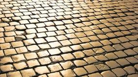 Textura de las piedras de pavimentación almacen de video