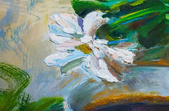 Textura de las pinturas al óleo, flores, fragmento de pintura de pintado Imagenes de archivo