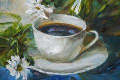 Textura de las pinturas al óleo, flores, fragmento de pintura de pintado Imagen de archivo