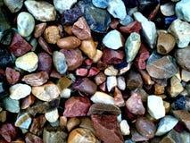 Textura de las rocas Grado, difícilmente rocas del colourfull fotos de archivo libres de regalías