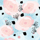 Textura de las rosas gráficas Imagenes de archivo