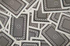 Textura de las tarjetas que juegan Imágenes de archivo libres de regalías