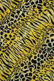 Textura de leopardo listrado da tela da cópia Fotos de Stock Royalty Free
