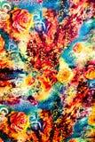 Textura de leopardo listrado da tela da cópia Fotografia de Stock