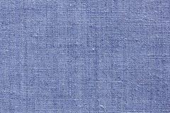 Textura de linho azul para o fundo Fotografia de Stock