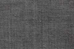 Textura de linho cinzenta para o fundo Imagem de Stock