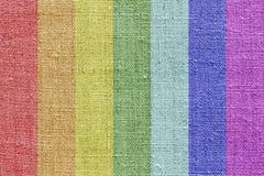 Textura de linho nas cores do arco-íris Foto de Stock
