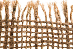 Textura de linho natural clara para o fundo Fotografia de Stock