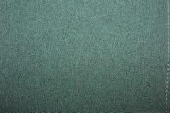 Textura de linho natural verde para o fundo Fotografia de Stock