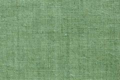 Textura de linho verde para o fundo Foto de Stock Royalty Free