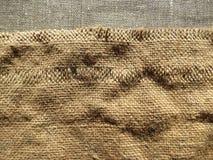 Textura de lino de la tela Fotografía de archivo libre de regalías