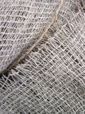 Textura de lino de la tela Foto de archivo