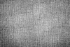 textura de lino natural Negro-blanca para el fondo Imagen de archivo libre de regalías
