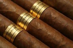 Textura de los cigarros de La Habana Fotos de archivo