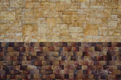Textura de los colores de la pared de piedra dos Foto de archivo